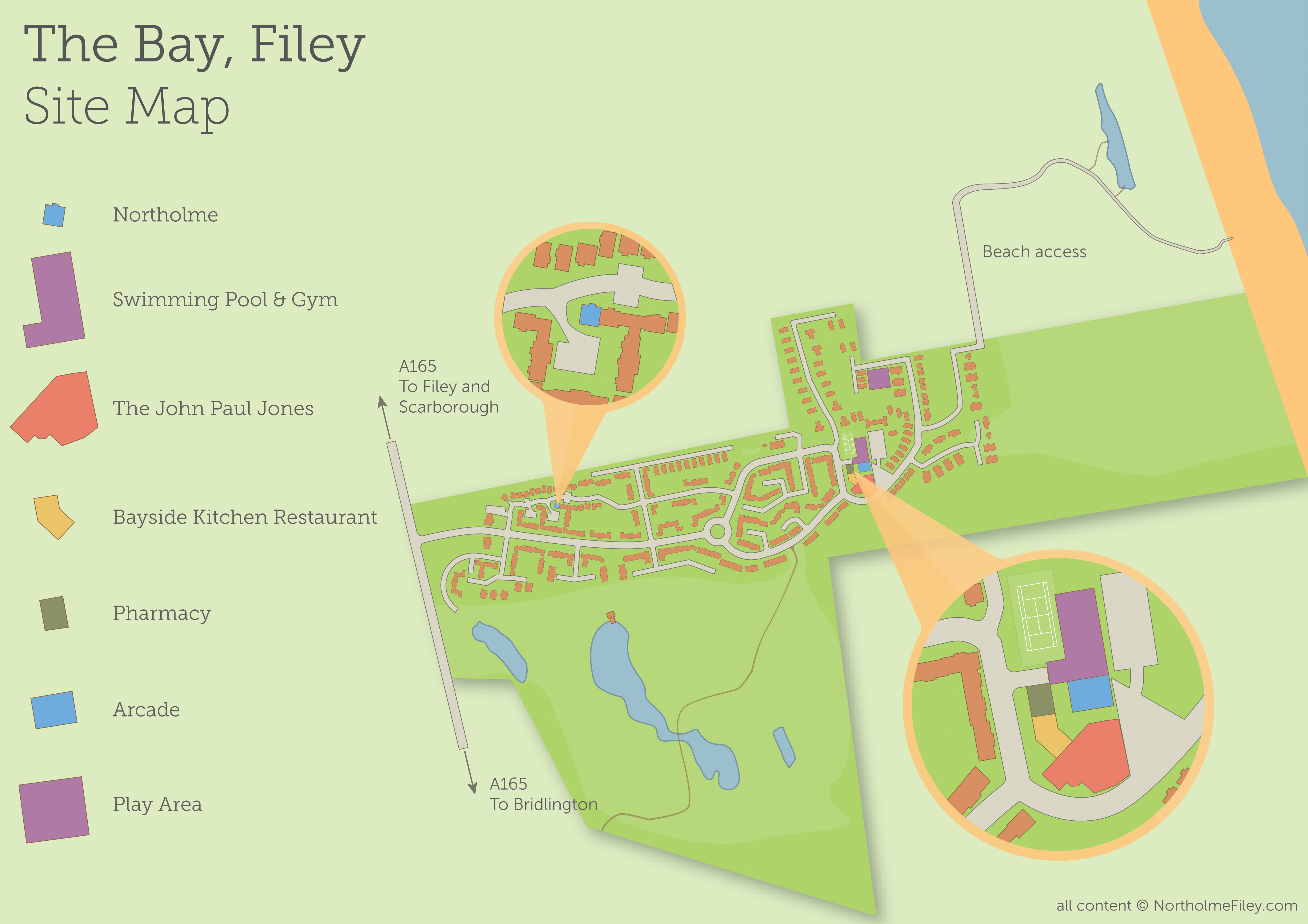 The Bay Filey Site Map - Northolme self catering cottage yorkshire Update 2018   NortholmeFiley.com